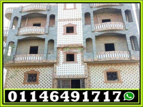 تشطيب واجهات منازل حجر فرعوني 1 500x375 - تصميم واجهات منازل حجر 01146491717