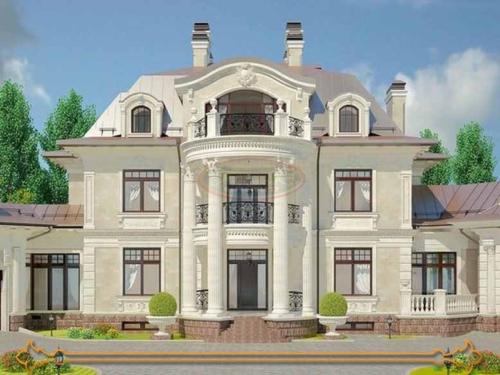 تصاميم واجهات منازل مصرية حجر 500x375 - تصاميم واجهات منازل مودرن فى مصر 01146491717