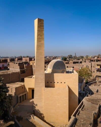 تصميم مسجد بصونة محافظة سوهاج 400x500 - تشطيب واجهات مساجد حجر هاشمى 01146491717