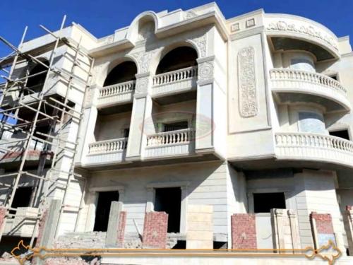 تصميم واجهات منازل حجر ابيض 500x375 - تصاميم واجهات منازل مودرن فى مصر 01146491717