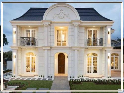 ديكور واجهات منازل حديثة 500x375 - ديكور واجهات منازل حديثة بتصاميم تشطيب واجهات مودرن
